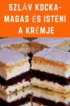Magas és isteni a krémje! #sütemény #krém Cake Recipes, Dessert Recipes, Hungarian Recipes, Baking And Pastry, Cake Cookies, Coco, Food And Drink, Tasty, Sweets