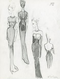 'L'œuvre au noir', the exhibition in homage to Cristóbal Balenciaga at the Musée Bourdelle Vintage Balenciaga, Balenciaga Dress, Bustiers, French Fashion, Vintage Fashion, Vintage Couture, 1950s Fashion, Palais Galliera, Fashion Sketches