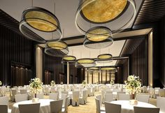 It is important that you select the type of party space that best suits what you… Ballroom Design, Function Hall, Lighting Concepts, Hotel Interiors, Ballrooms, Rooftop Bar, Hospitality Design, Ceiling Design, Interiores Design