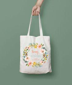 Personnalisé-Flower Girl-Sac cadeau de mariage-coton