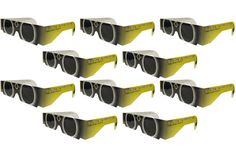 The Eclipser Safe Solar Eclipse Glasses CE Certified 10 Pack These eclipse glasses are independently tested and CE certified for the safest direct solar viewing. They are manufactured exclusively with