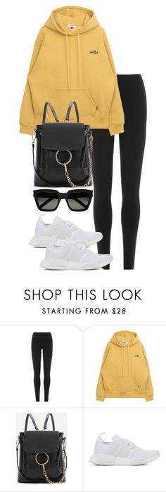 """Untitled #4098"" by theeuropeancloset ❤ liked on Polyvore featuring DKNY, WithChic, adidas Originals and Yves Saint Laurent"