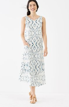 Pure Jill tie-dye print dress | J.Jill