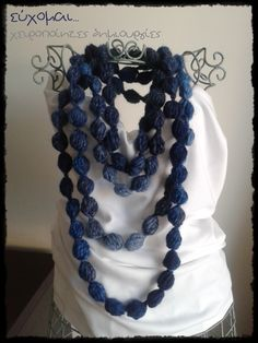 handmade pom pom scarf necklace