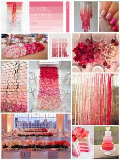 Ombre wedding inspiration; would be perfect in Tiffany blue!! love the fading colors