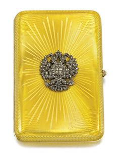 A FABERGÉ IMPERIAL PRESENTATION JEWELLED AND ENAMELLED GOLD CIGARETTE CASE, WORKMASTER AUGUST HOLLMING, ST PETERSBURG, 1902