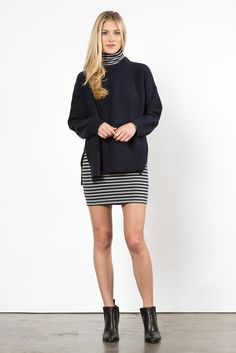 Neilson Sweater Navy – Whimsy and Row