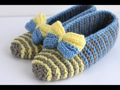 DIY- EN KOLAY ÖRGÜ EV AYAKKABISI-EASIEST KNITTED BOOTIES EVER - YouTube