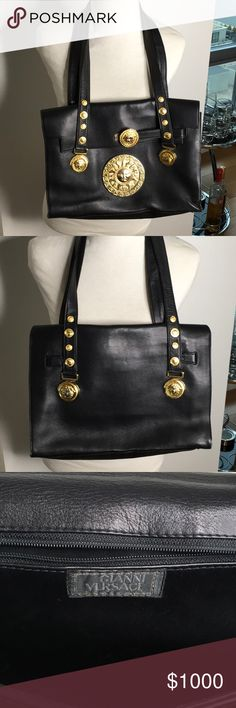 94abfdf3026 Vintage and Black Gianni Versace Handbag I am selling this Vintage  Authentic Black Gianni Versace Handbag