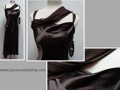 Believe Dark Chocolate Dress Satiny Sz 6