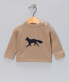 sdgaskdljglkjasdg so cute    Take a look at this Brown Fox Cashmere Sweater - Infant & Toddler  by Easter Boutique on #zulily today!
