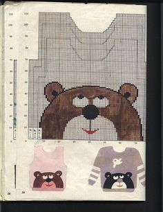"Sweater Patterns, Bears, Stricken, Tissue ""This post was discovered by ов"", ""Baby And Kids Kn Baby Boy Knitting Patterns, Knitting Charts, Knitting For Kids, Crochet For Kids, Knitting Stitches, Knitting Projects, Crochet Baby, Crochet Patterns, Sweater Patterns"