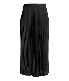 Pleated Skirt | Black | Ladies | H&M US