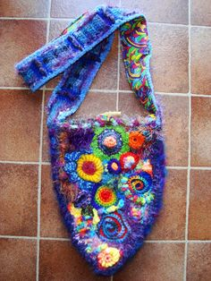 Rainbow Crochet Bag by ~Faeriegem on deviantART