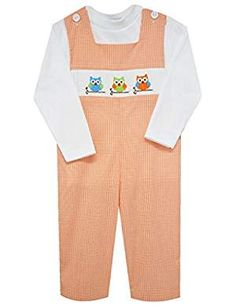 Vive La Fete owl smocked boys overall Fashion 2018, Boy Fashion, Latest Fashion Trends, Womens Fashion, Free To Use Images, Program Design, Cotton Tee, Smocking, Tees