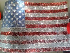 "Even the ""Old Glory"" USA flag has sparkle in Hollywood."