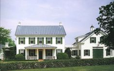 white+green farmhouse ... seriously this is my dream house. a white farmhouse with green shutters.