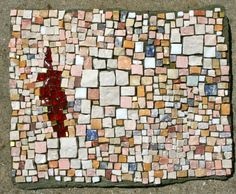 Stone Weaving 2012 8 x 10 Hand made undulating sbstrate Marble and transparent Smalti