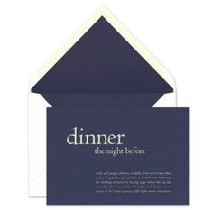 Vera Wang rehearsal dinner invitations.