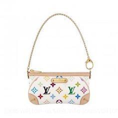 Louis Vuitton-Handbag Pochette Milla PM M60098 White