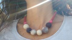 Romanian rustic necklace. Organic wool. by icamelia on Etsy
