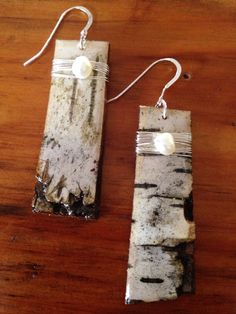 Birch Tree Necklace Set by WatersEdgeMe on Etsy