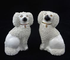 English Staffordshire poodle figurines