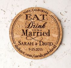 wine wedding cork save the date coasters                                                                                                                                                                                 More