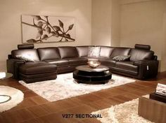 Corner Natuzzi Sectional Sofa Brown