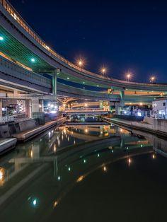 小菅JCT / T. Mutoh Tokyo Tower, Building Structure, Yokohama, Sydney Harbour Bridge, Tokyo Japan, Fuji, Anonymous, Roads, Bridges