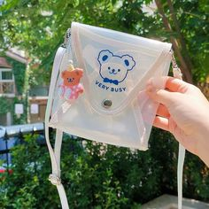 Transparent Cute Bear Jelly Sling Bag and Pencil Case – The Rain Journal Stationery
