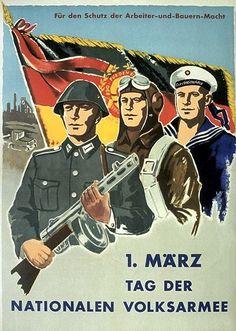 Für den schutz der Arbeiter-und-Bauern-Macht. 1 März tag der Nationalen Volksarmee. / For the protection of workers and farmers power. March 1st, day of the National People's Army.