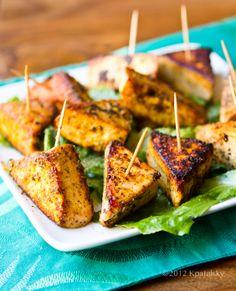 Simple Salt & Pepper Tofu Triangle Bites