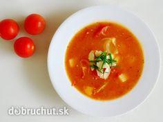 Fotorecept: Pečená paradajková polievka