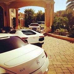 There is something about a convoy of white luxury and super cars that sing summer! Take a look at the finest vehicles available for hire in London at www.OpulentlyDriven.com. #Luxury #Cars #Chauffeur #London.