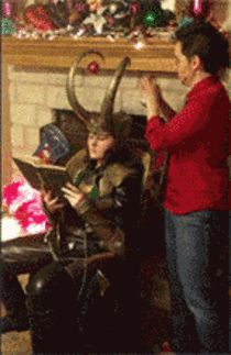 Loki nailing Iron Man in the balls