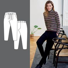 Bukse Sewing Patterns, Trousers, How To Make, Diy, Crafts, Stitching Patterns, Trouser Pants, Pants, Factory Design Pattern