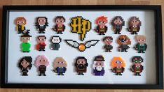 Harry Potter Perler Beads, Harry Potter Keychain, Harry Potter Diy, Easy Perler Bead Patterns, Diy Perler Beads, Harr Potter, Hamma Beads Ideas, Perler Bead Mario, Lightning Logo