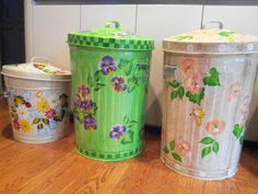 Hand Painted Cans krystasinthepointe- ETSY