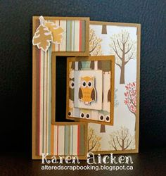 Altered Scrapbooking: Owl Flip-Its Card