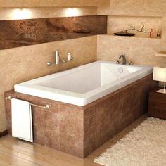 Venzi VZ3660VN Villa 36 x 60 Rectangular Soaking Bathtub with Reversible Drain
