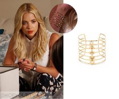 Pretty Little Liars: Season 6 Episode 12 Hanna's Gold Cuff Bracelet