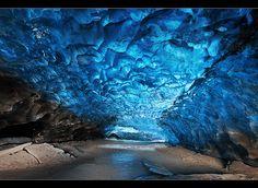 Crystal Cave - Svínafellsjökull in Skaftafell, Iceland by orvaratli, via Flickr