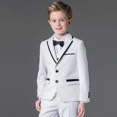 boys suits for weddings on sale at reasonable prices, buy brand 2017 spring autumn black boys suits for weddings single breasted korean style prom kids wedding tuxdo suits set from mobile site on Aliexpress Now! Vest Coat, Vest Jacket, Pant Shirt, Pants, Boys Suits, Wedding With Kids, Black Boys, Wedding Suits, Baby Boy Outfits