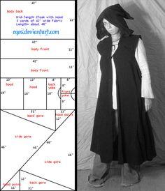 Pattern: Sleeveless Cloak/Duster by eqos.deviantart.com on @deviantART