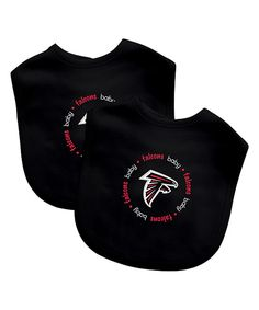 Look what I found on #zulily! Atlanta Falcons Bib - Set of Two by Baby Fanatic #zulilyfinds