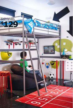 IKEA te ayuda a ahorrar espacio en el dormitorio de tus hijos http://ini.es/1od0H5J #AhorrarEspacio, #CómoDecorarDormitorioInfantil, #DormitorioInfantil, #Dormitorios