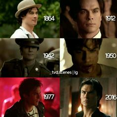The many faces of Damon Salvatore over the decades potrayed by Ian Somerhalder
