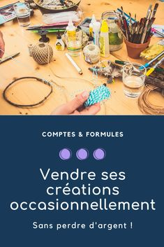 Creation Couture, Budgeting, Creations, Activities, Marketing, Auto Entrepreneur, Business, Job, Etsy