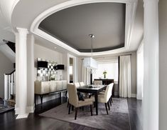 Sophisticated Dining Room with Dining Table and Chairs